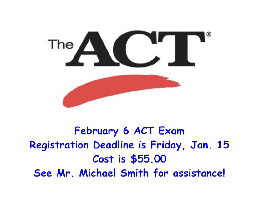 ACT Registration Deadline is this Friday!