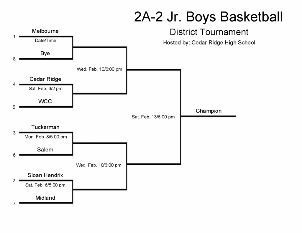 Jr Boys Bracket