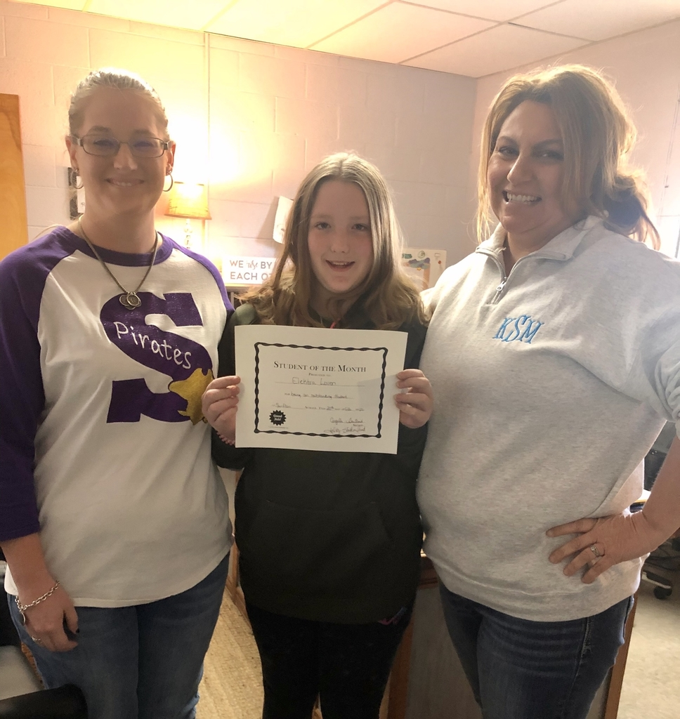 Elektra Loven, 6th grade Student of the Month