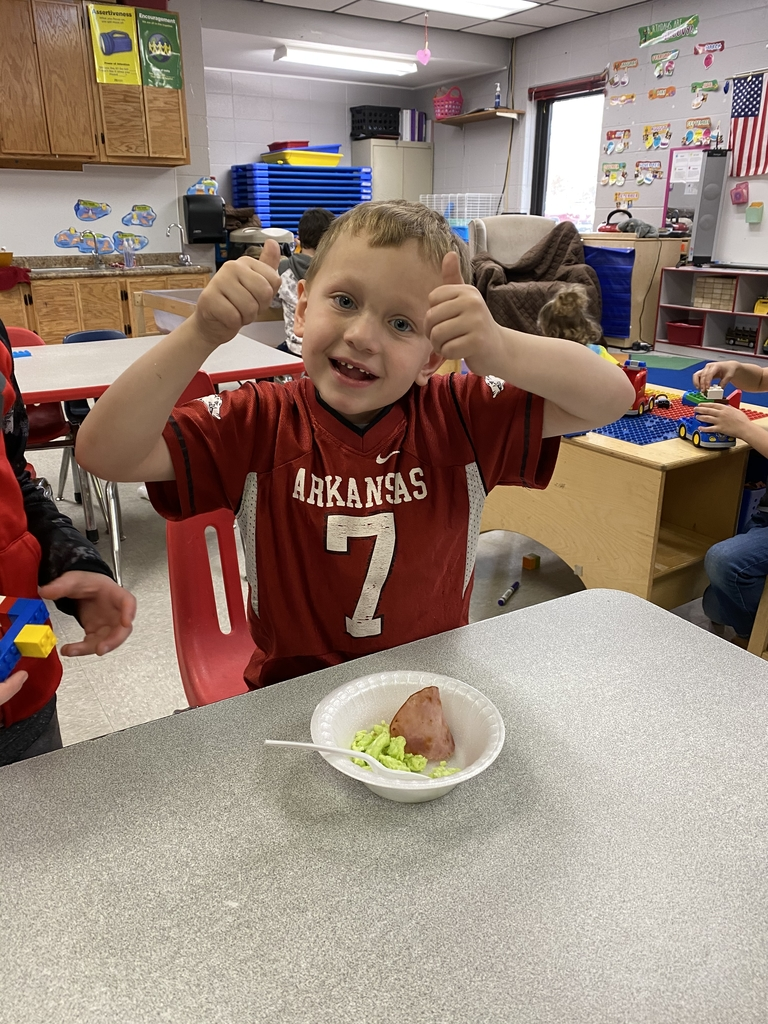 Jaxson gave green eggs & ham two thumbs up!