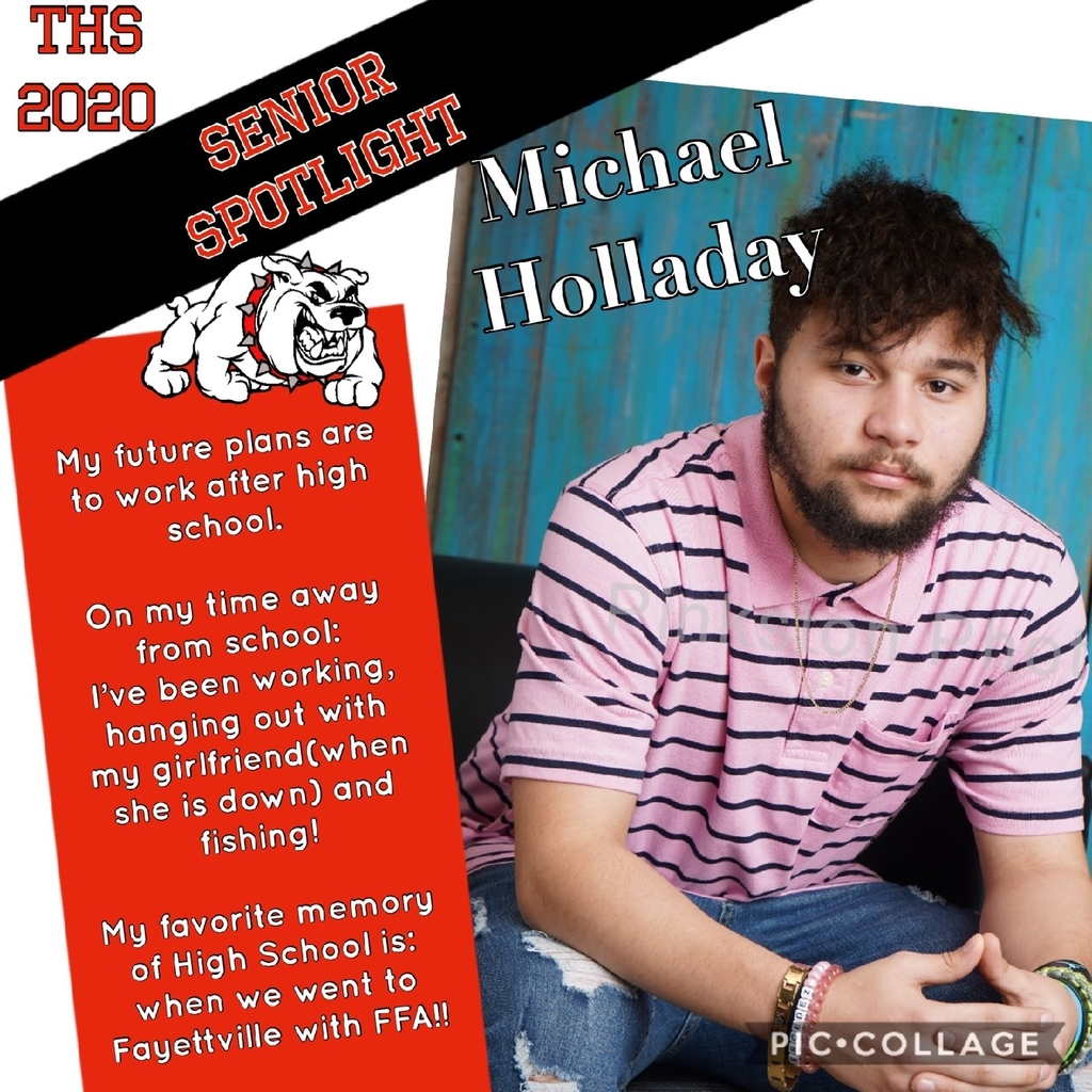 Class of 2020 Senior Spotlight! Michael Holladay!
