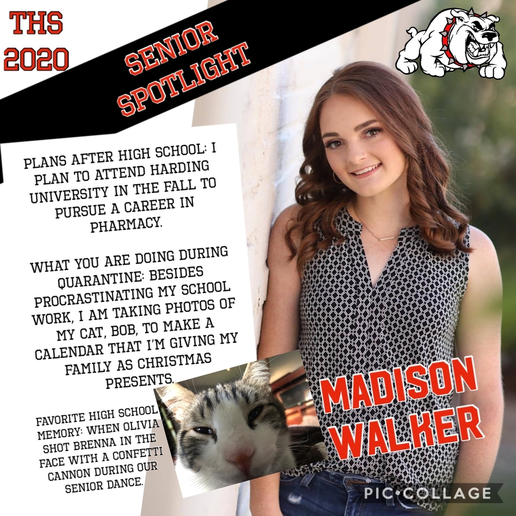 Class of 2020 Madison Walker!